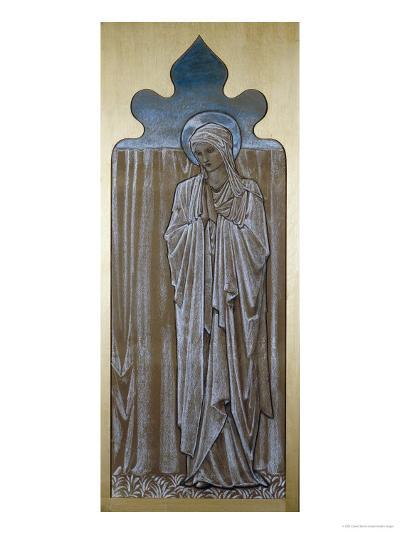 The Virgin Mary: a Cartoon for Stained Glass at Ashton-Under-Lyne, Lancashire-Edward Burne-Jones-Giclee Print