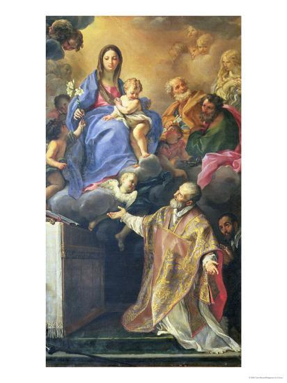 The Virgin Mary Appearing to St. Philip Neri-Carlo Maratti-Giclee Print
