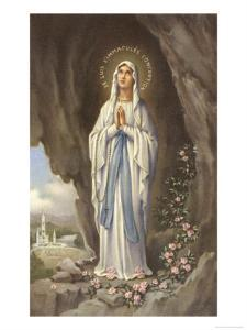 The Virgin Mary as Supposedly Seen by Bernadette, a Highly Romanticised Italian Depiction