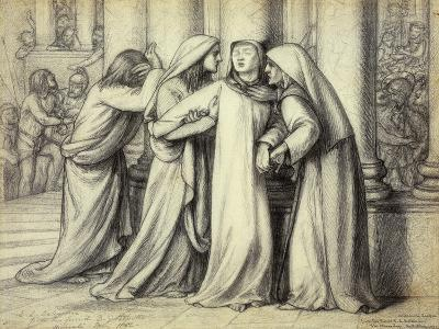 The Virgin Mary being Comforted-Dante Gabriel Rossetti-Giclee Print