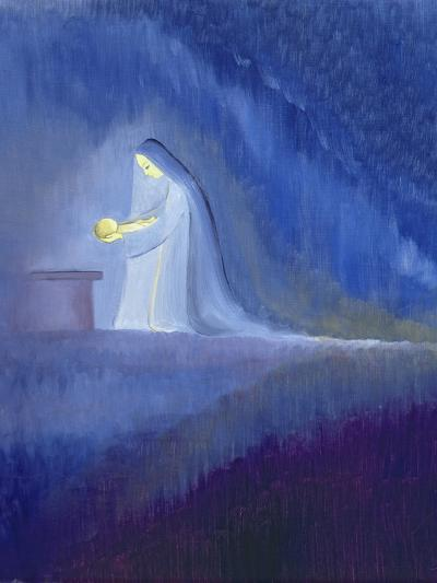 The Virgin Mary Cared for Her Child Jesus with Simplicity and Joy, 1997-Elizabeth Wang-Giclee Print
