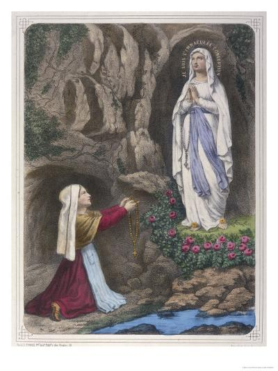 The Virgin Mary Reveals to Bernadette Soubirous That She is the Immaculate Conception--Giclee Print