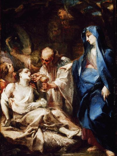 The Virgin Mary Sending the Viaticum to a Devotee-Pietro Antonio Magatti-Giclee Print