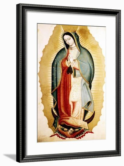 The Virgin of Guadalupe, Museo de America, Madrid, Spain-Miguel Cabrera-Framed Premium Giclee Print