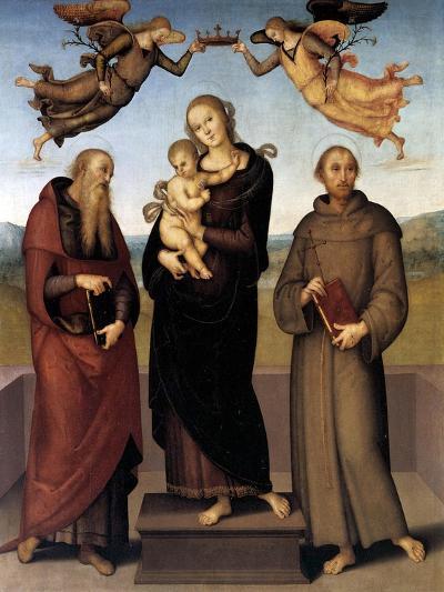 The Virgin of Loretto with Saint Jerome and Saint Francis, 1507-15-Pietro Perugino-Giclee Print