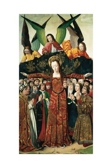 The Virgin of Mercy, Altarpiece from the Convent of Saint Clare, Spain--Giclee Print