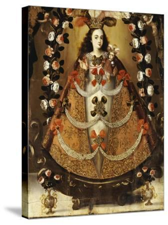 The Virgin of Pomata, School of la Paz, 17th Century-Leonardo Flores-Stretched Canvas Print