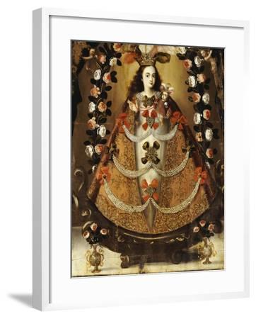 The Virgin of Pomata, School of la Paz, 17th Century-Leonardo Flores-Framed Giclee Print