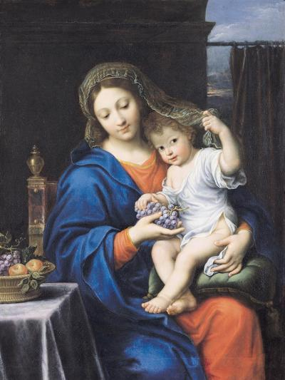 The Virgin of the Grapes, 1640-50-Pierre Mignard-Giclee Print