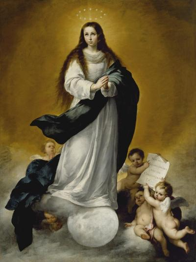 The Virgin of the Immaculate Conception, c.1660-Bartolome Esteban Murillo-Giclee Print