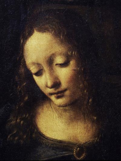 The Virgin of the Rocks Detail of Virgin-Leonardo da Vinci-Giclee Print