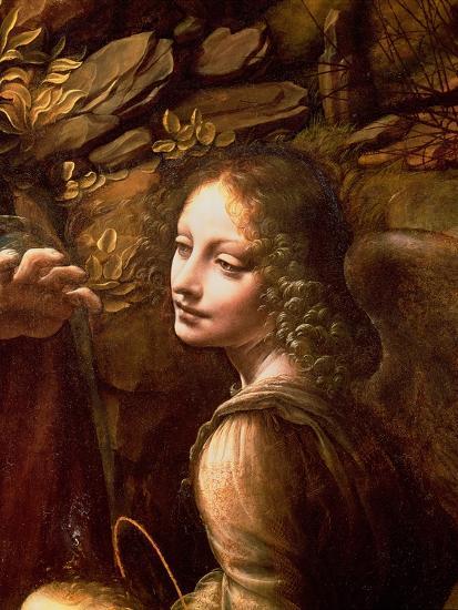 The Virgin of the Rocks (The Virgin with the Infant St. John Adoring the Infant Christ)-Leonardo da Vinci-Premium Giclee Print