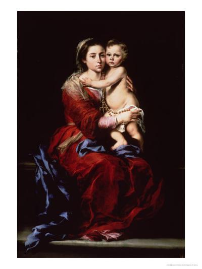 The Virgin of the Rosary, c.1650-Bartolome Esteban Murillo-Giclee Print
