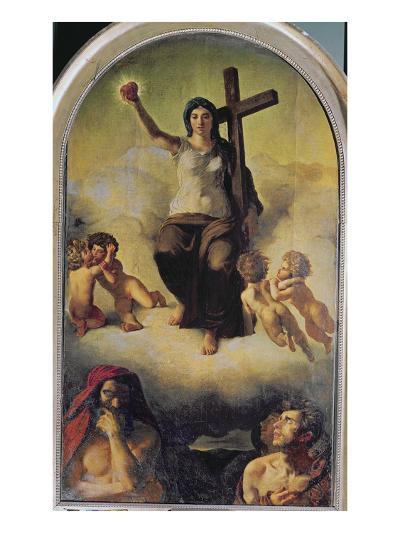 The Virgin of the Sacred Heart, 1821-Eugene Delacroix-Giclee Print