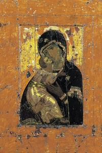 The Virgin of Vladimir, Byzantine Icon, Early 12th Century