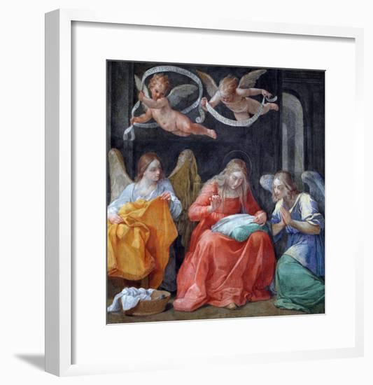 """The Virgin Sewing, from the """"Cappella Dell'Annunciata"""" 1610-Guido Reni-Framed Giclee Print"""
