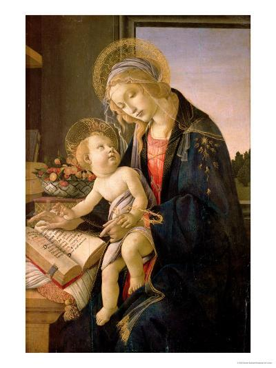 The Virgin Teaching the Infant Jesus to Read-Sandro Botticelli-Giclee Print
