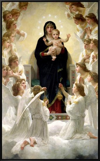 The Virgin with Angels, 1900-William Adolphe Bouguereau-Framed Canvas Print