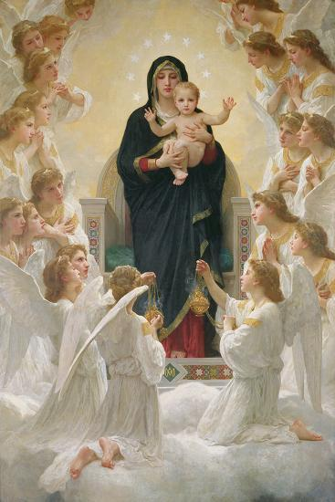 The Virgin with Angels, 1900-William Adolphe Bouguereau-Giclee Print