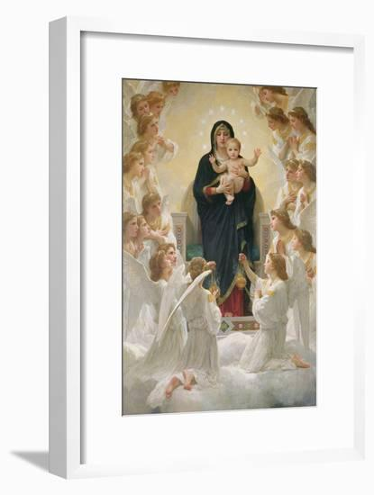 The Virgin with Angels, 1900-William Adolphe Bouguereau-Framed Giclee Print
