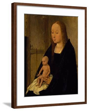 The Virgin with Child, Detail from Adoration of the Magi, 1510-Hieronymus Bosch-Framed Giclee Print