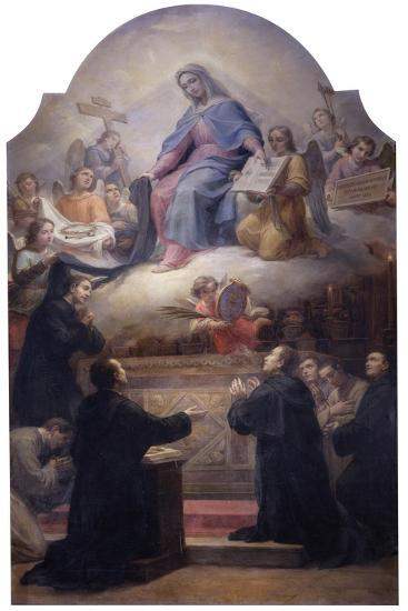 The Virgin with Saints Filippo Benizzi and Giuliana Falconeri Interceding for God's Protection-Pietro Gagliardi-Giclee Print