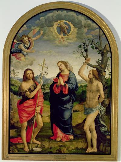 The Virgin with Saints Sebastian and John the Baptist-Timoteo Viti-Giclee Print