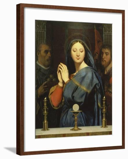 The Virgin with the Host. 1841-Jean Auguste Dominique Ingres-Framed Giclee Print