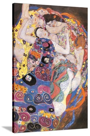 The Virgins-Gustav Klimt-Stretched Canvas Print