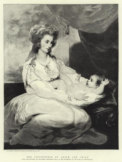 The Viscountess St Asaph and Child Giclee Print by Sir Joshua Reynolds |  Art com