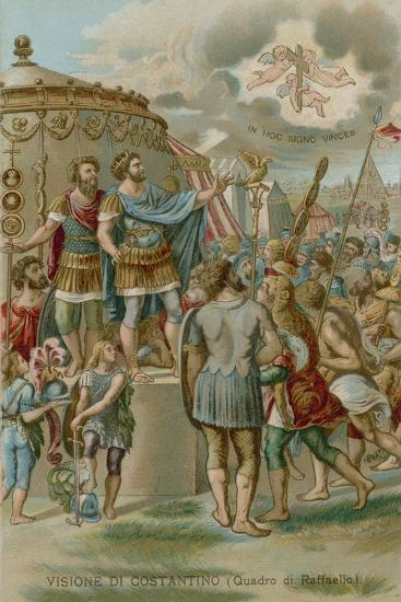 The Vision of Constantine before the Battle of Milvian Bridge, 312--Giclee Print