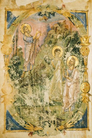The Vision of Ezekiel, Miniature from the Homilies of Saint Gregory, Manuscript, 9th Century--Giclee Print