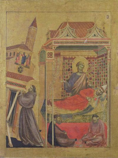 The Vision of Pope Innocent III, circa 1295-1300-Giotto di Bondone-Giclee Print
