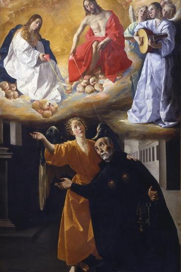 The Vision of Saint Alphonsus Rodr?guez-Francisco de Zurbar?n-Giclee Print