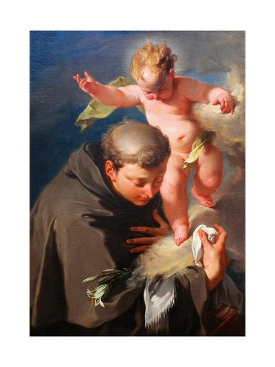 The Vision of Saint Anthony of Padua C.1730-Giovanni Battista Pittoni-Giclee Print