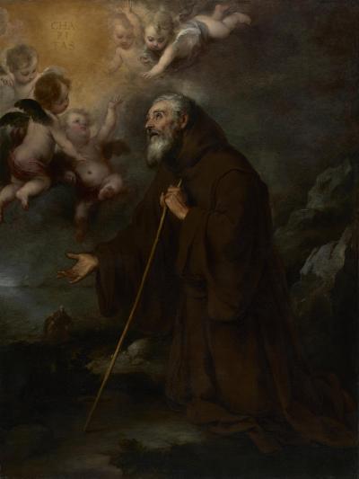 The Vision of Saint Francis of Paola, c.1670-Bartolome Esteban Murillo-Giclee Print