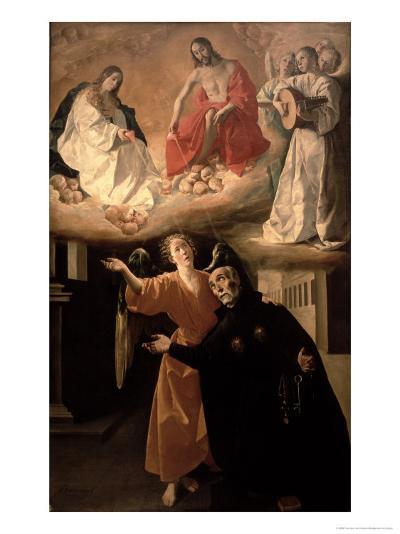 The Vision of St. Alphonsus Rodriguez-Francisco de Zurbar?n-Giclee Print