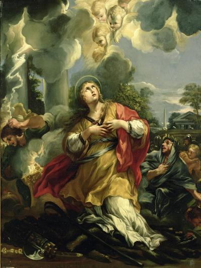 The Vision of St. Barbara- Pietro Da Cortona-Giclee Print