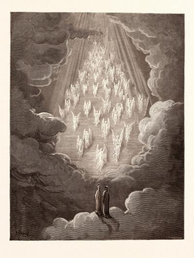 The Vision of the Golden Ladder-Gustave Dore-Giclee Print
