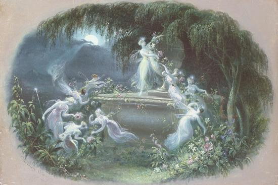 The Visit at Moonlight, 1832-Edmund Thomas Parris-Giclee Print