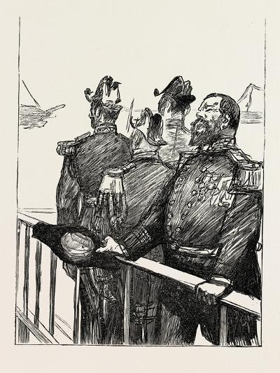 The Visit of the French Fleet: the Leader of the Cheers--Giclee Print