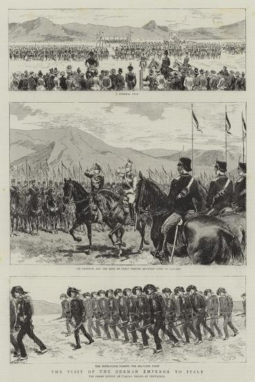 The Visit of the German Emperor to Italy--Giclee Print