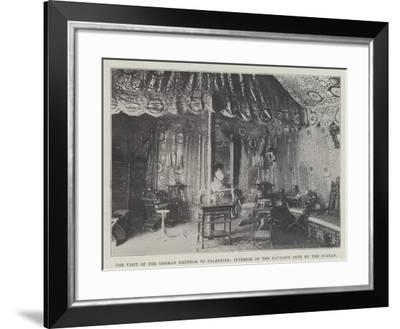 The Visit of the German Emperor to Palestine, Interior of the Pavilion Sent by the Sultan--Framed Giclee Print