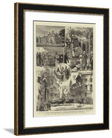 The Visit of the Prince and Princess of Wales to Brighton--Framed Giclee Print