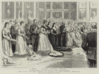 The Visit of the Prince of Wales to the German Emperor--Giclee Print