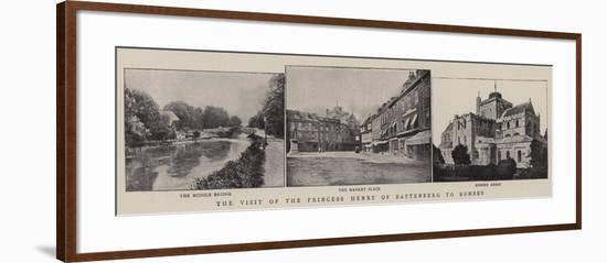 The Visit of the Princess Henry of Battenberg to Romsey--Framed Giclee Print