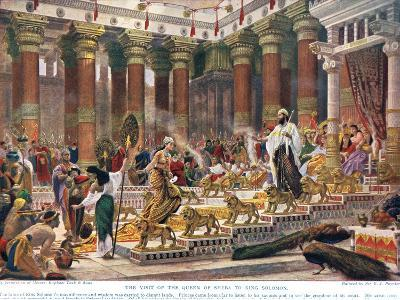 The Visit of the Queen of Sheba to King Solomon, Illustration from 'Hutchinson's History of the…-Edward John Poynter-Giclee Print