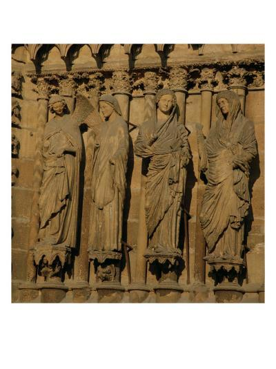 The Visitation, Four Jamb Figures from the West Facade of the Cathedral, circa 1230-40--Giclee Print