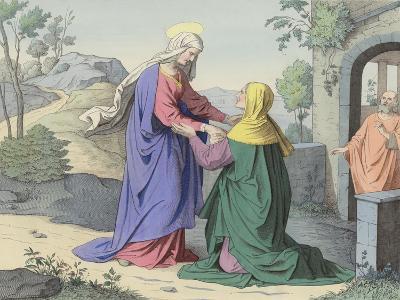 The Visitation of St Elizabeth--Giclee Print