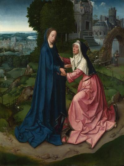 The Visitation of the Virgin to Saint Elizabeth. Panel from an Altarpiece, Ca 1515--Giclee Print